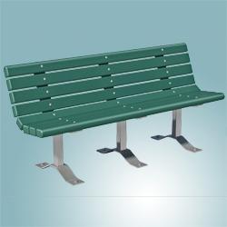 Tremendous Contour Park Bench Multi Pedestal Pilot Rock Rj Thomas Evergreenethics Interior Chair Design Evergreenethicsorg