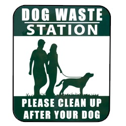Pilot Rock Pet Waste Collection Station - Sign Only - #PWS-D008