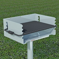 Q/G-24 Galvanized Steel Charcoal Grill