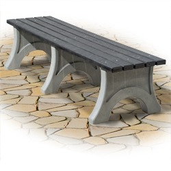 100% Recycled Plastic Bench - Flat. RBF Series.