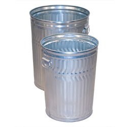 Regular Duty Galvanized Steel Trash Cans with or without Lids