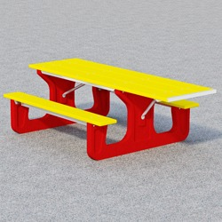 End Accessible Recycled Plastic Picnic Table - RT Series