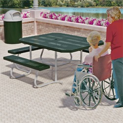 Square Portable Wheelchair Accessible Picnic Table - SQT3-4 Series