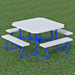 SQT-3 and SQT-4 Series Portable Square Picnic Table -Using Aluminum