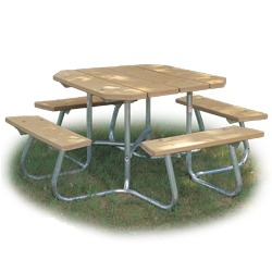 SQT-3 and SQT-4 Series Portable Square Picnic Table -Using Recycled Plastic