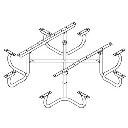 Picnic Tables Frame Kits Only Series Pilot Rock - Picnic table steel frame kit