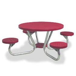 T200 Series - Round, Portable Picnic Table With ROUND Seats - Using Expanded Steel