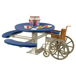 Round, Pedestal Wheelchair Accessible Picnic Table - T300 and T400 Series
