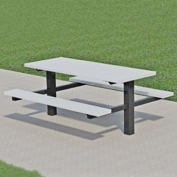 TPT Series Twin Pedestal Picnic Table - Using Aluminum