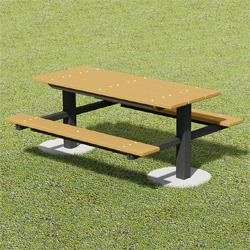 TPT Series Twin Pedestal Picnic Table - Using Recycled Plastic