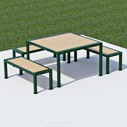 Square Frame Wheelchair Accessible Square Picnic Table - Series TQ703