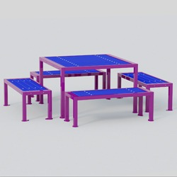 Model TQ704 - Square Frame Square Picnic Tables