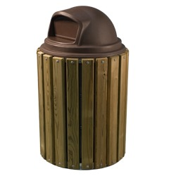 Round Trash and Recycling Receptacles - TRH Series