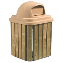 Square Trash and Recycling Receptacles - TRQ Series