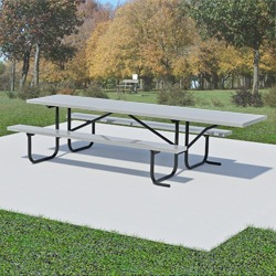 UT and UTH Series End Accessible Picnic Table - Using Aluminum