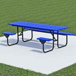 UT Series Side Accessible Picnic Table - Using Recycled Plastic
