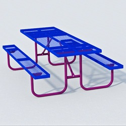 UT Series Picnic Table - Using Expanded Steel