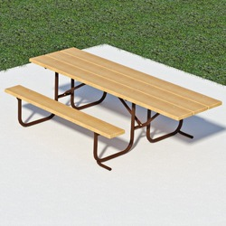 UT and UTH Series End Accessible Picnic Table - Using Lumber