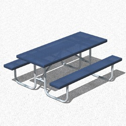 UT Series Picnic Table - Using Perforated Steel