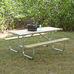UT/G-6TP Picnic Table with Treated Pine Top & Seats
