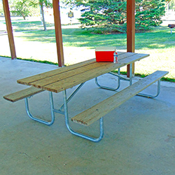 UT/G-8TP Picnic Table with Treated Pine Top & Seats