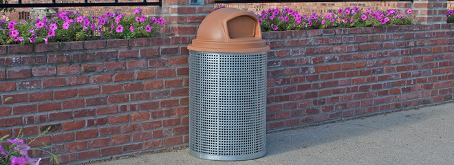 Model CN-R/R/G-55 Trash Receptacle