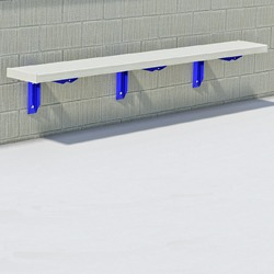 Wall Mount Bench - Using Aluminum