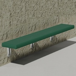 Wall Mount Bench - Using Perforated Steel