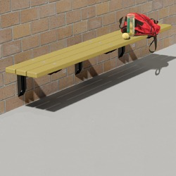 Wall Mount Bench - Using Recycled Plastic