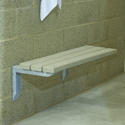 Wall Mount Bench - Using Recycled Plastic: Benches: Pilot Rock