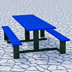 WPTS Square Frame Accessible Picnic Table - Using Recycled Plastic