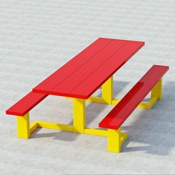 WPTS Square Frame Accessible Picnic Table - Using Aluminum