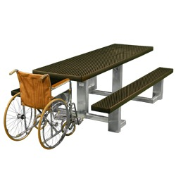 Universal Access Square Frame Picnic Table - WPTS Series