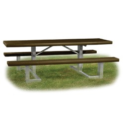 Snow Load/ Extreme Load Square Frame Accessible Picnic Table - WPTS Series