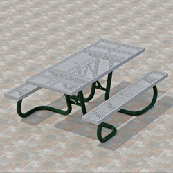 WXT and WXTH Accessible Picnic Table - Using Perforated Steel