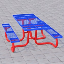 WXT and WXTH Accessible Picnic Table - Using Expanded Steel
