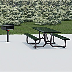 WXT and WXTH Accessible Picnic Table - Using Formed Steel Channel