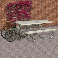WXT and WXTH Accessible Picnic Table - Using Aluminum