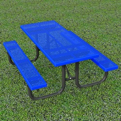 XT Series Picnic Table - Using Perforated Steel