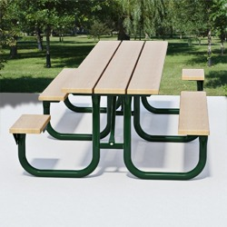 XT Series Side Accessible Picnic Table - Using Lumber