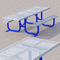 XT and XTH Series End Accessible Picnic Table - Using Steel Tops/Seats