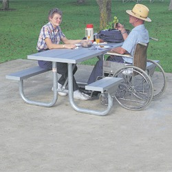 Side Accessible Heavy Duty Picnic Table - XT Series