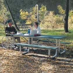 End Accessible Extra Heavy Duty Picnic Table - XT Series