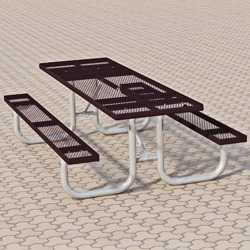XT Series Picnic Table - Using Expanded Steel
