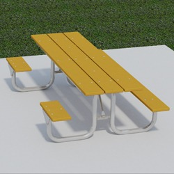 XT Series Side Accessible Picnic Table - Using Recycled Plastic