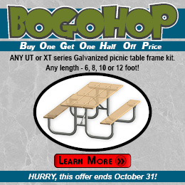 Buy One, Get One Half Off Price picnic table frame kits!